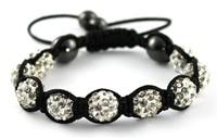 Bracelet Shamballa en blanc