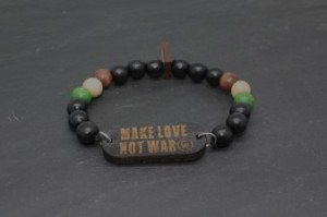 "Bracelet homme ""Make Love Not War"""