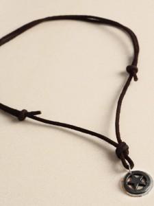 collier chaine en cuir