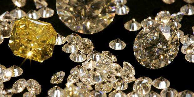 'GASSAN DIAMONDS' IN A BLACK CASE, AMSTERDAM, NETHERLANDS  SagaPhoto / Reporters  Ref : NLPF0423